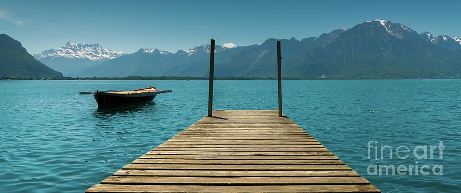 Boat Photograph - Lake Geneva by DiFigiano Photography