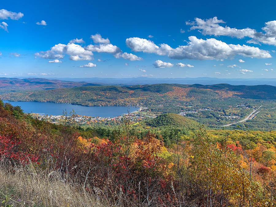 Lake George Village view Photograph by Kendall McKernon