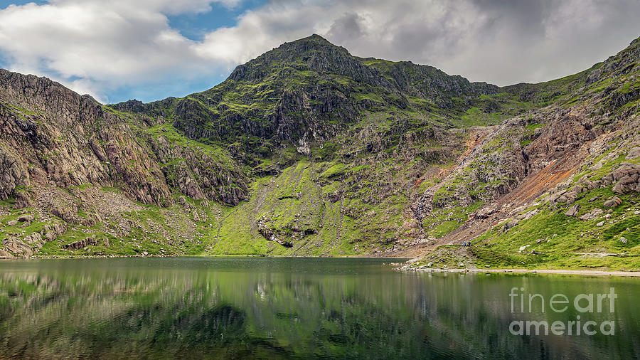 Lake Glaslyn with Mount Snowdon by Adrian Evans