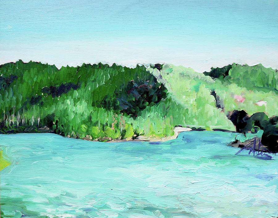Plein Air Painting - Lake Gregory CA by Joseph Demaree