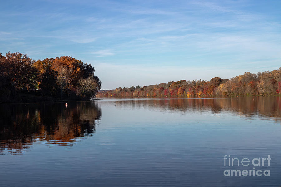 Autumn Photograph - Lake In Autumn by Nicki Hoffman