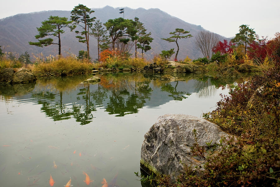 Lake In Korea Photograph by Rhyman007