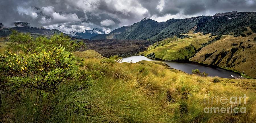 Lake In Mountains, Condor Trek, Ecuador Photograph by Miguel Carvallo