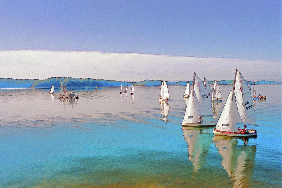 Water Digital Art - Lake Lanier by Randy Sprout
