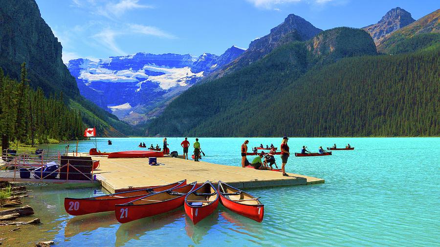Lake Louise In Alberta Canada Photograph