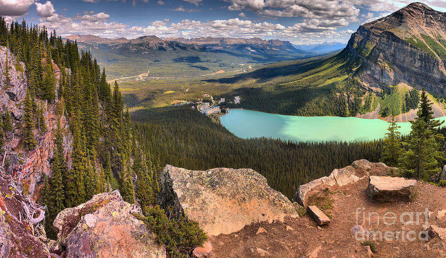 Lake Louise Little Beehive Panorama by Adam Jewell