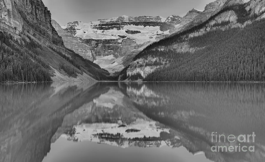 Lake Louise Summer 2019 Sunrise Panorama Black And White by Adam Jewell