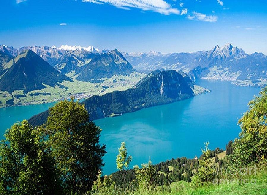 Lake Lucerne In Switzerland by Rod Jellison