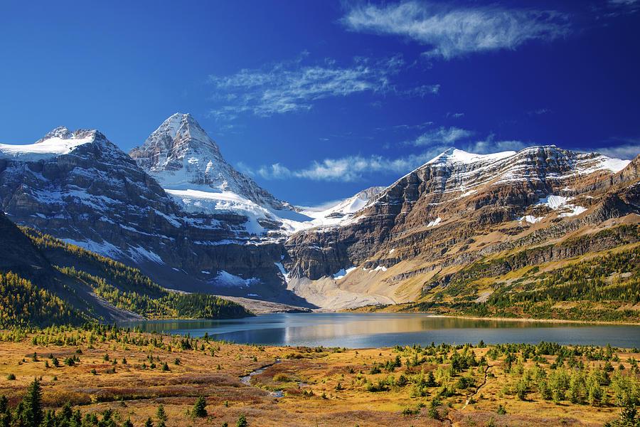 Lake Magog With Mountain Photograph by Piriya Photography