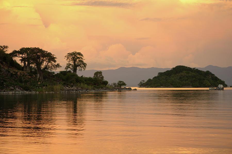 Lake Malawi Sunset Photograph by Christophe cerisier
