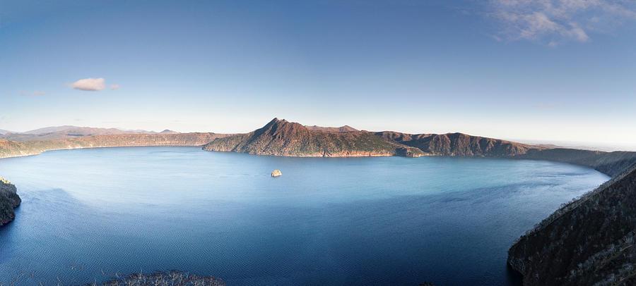 Lake Mashu in the Late Autumn - Panorama - Hokkaido, Japan by Ellie Teramoto