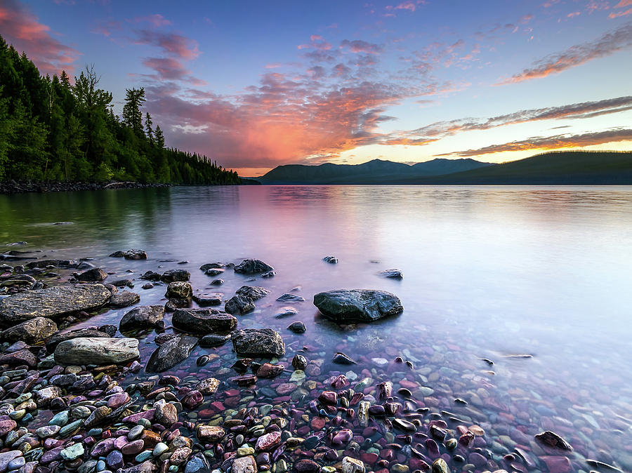 Lake McDonald Sunset by Jake Sorensen