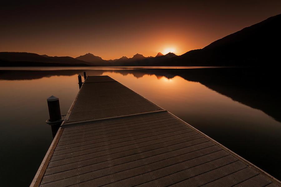 Lake McDonald Wake Up Call by Mark Kiver