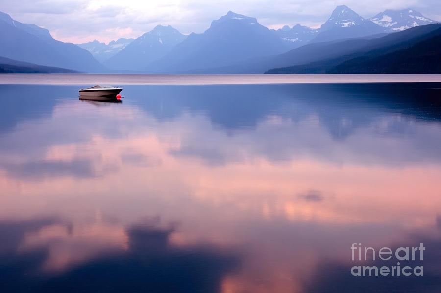 Atmosphere Photograph - Lake Mcdonald by Yao Li Photography