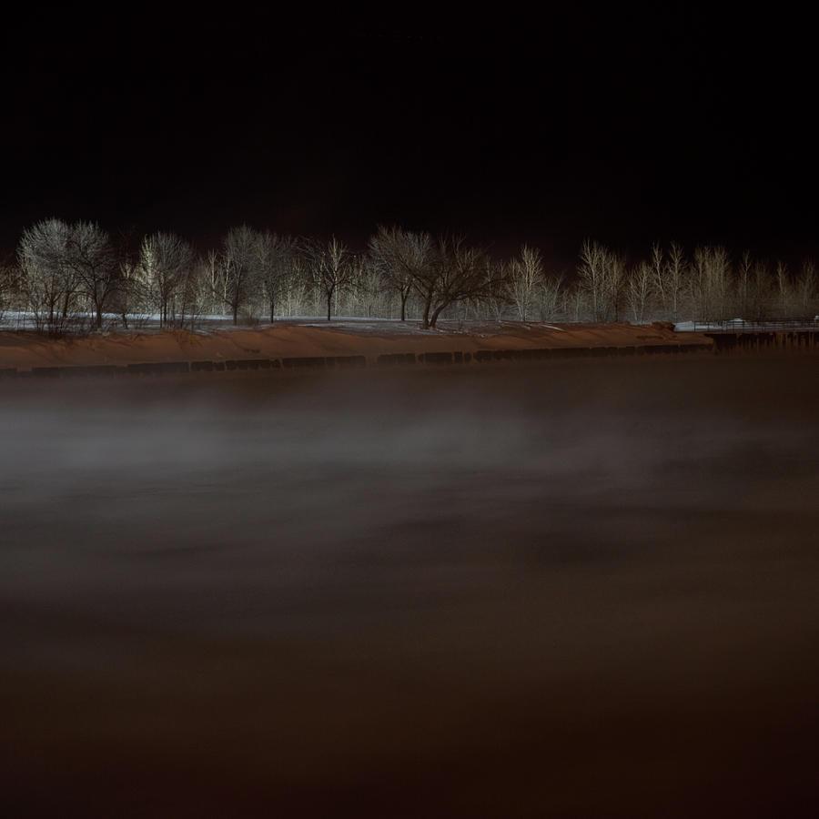 Lake Michigan At Night Photograph by David Schalliol