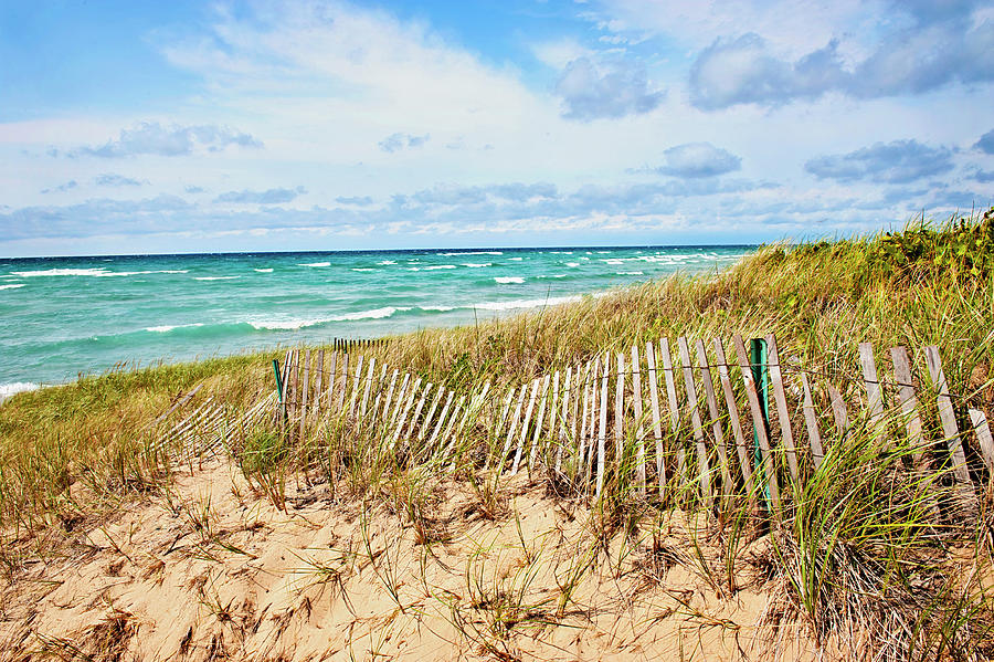 Lake Michigan Beachcombing by Jill Love