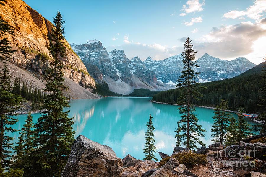 Lake Moraine sunset, Banff, Canada by Matteo Colombo