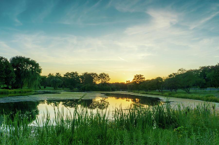 Lake Muhlenberg Sunset in September by Jason Fink