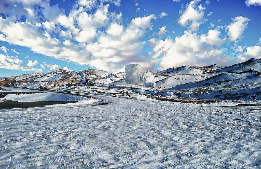 Lake Myvatn Winter Landscape by Anthony Dezenzio