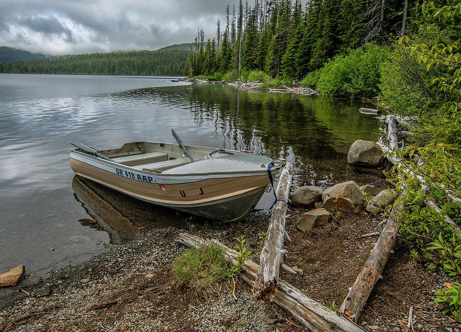 Lake Olalie Boat  by Matthew Irvin