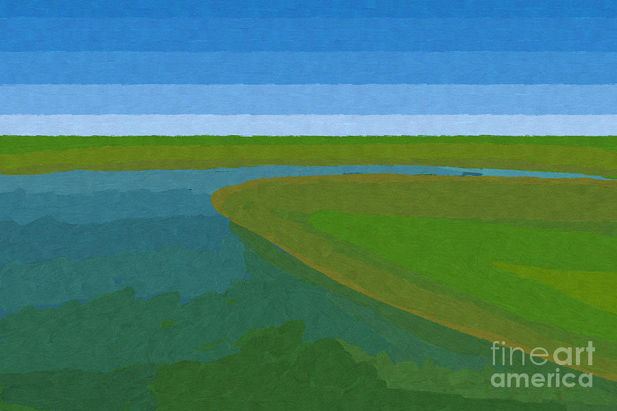 Pflugerville Painting - Lake Pflugerville Abstract Landscape by D Tao
