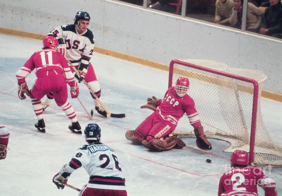 Lake Placid 1980 - Ice Hockey - Usa Vs Photograph by Bettmann