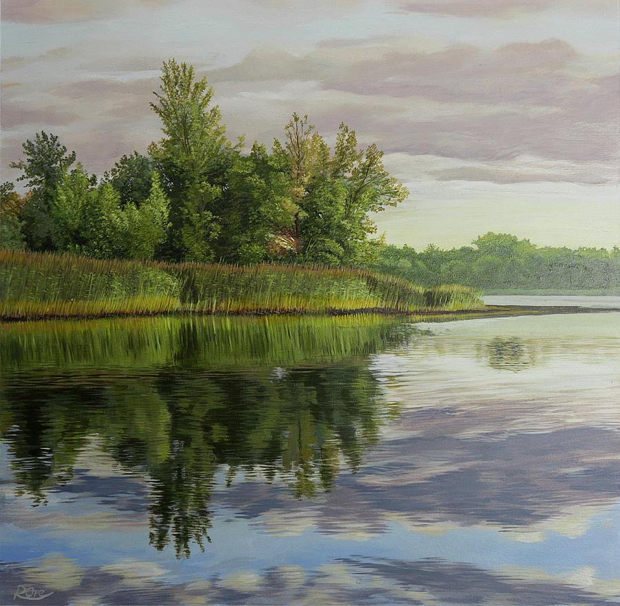 Lake Painting - Lake Reflections by Raymond Ore