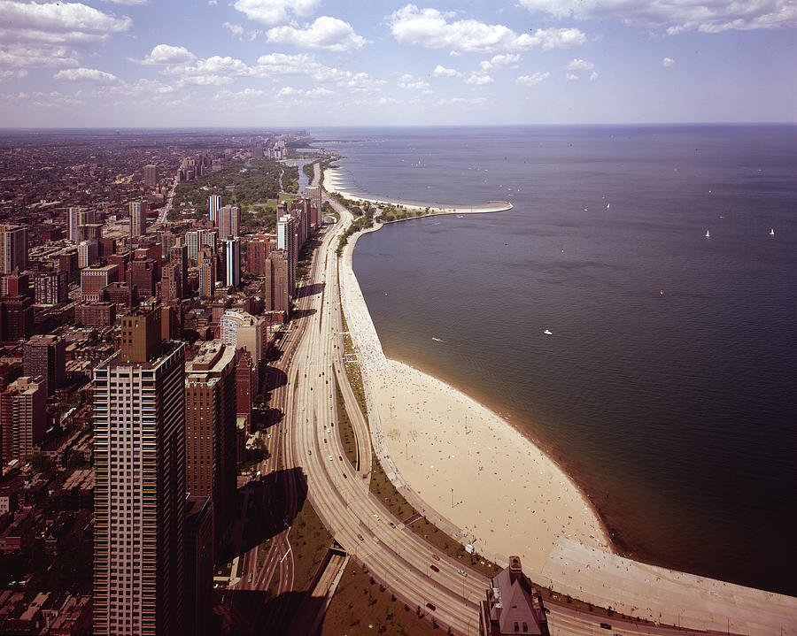 Lake Shore Drive From The Air Photograph by Chicago History Museum