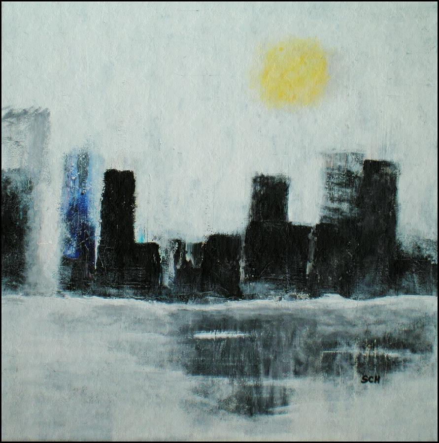 Abstract Painting - Lake Shore Misty Morn by Scott Haley