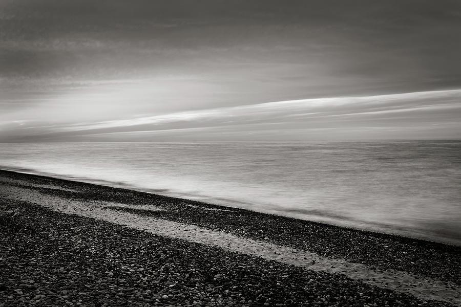 Beaches Photograph - Lake Superior Beach IIi Bw by Alan Majchrowicz