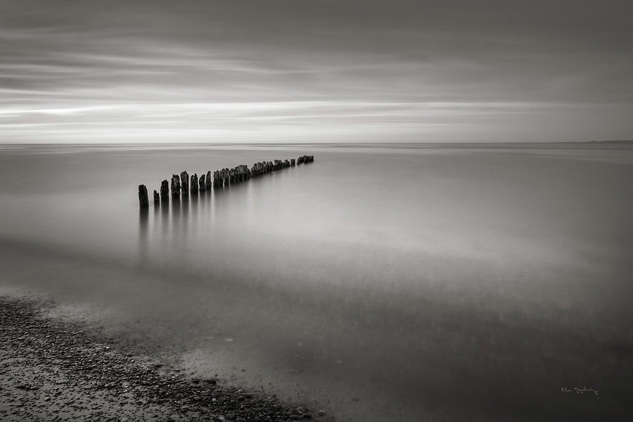Great Lakes Photograph - Lake Superior Old Pier V by Alan Majchrowicz