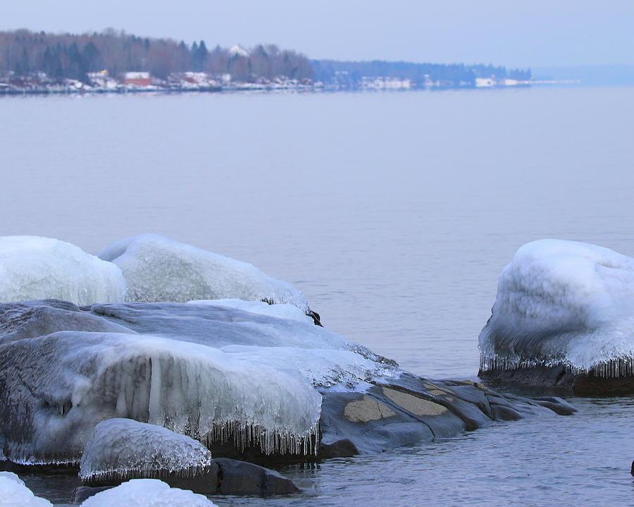 Lake Superior Slippery Walk by Arvin Miner