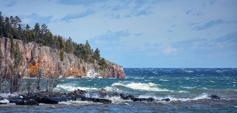 Lake Photograph - Lake Superior Whitecaps by Paul Freidlund