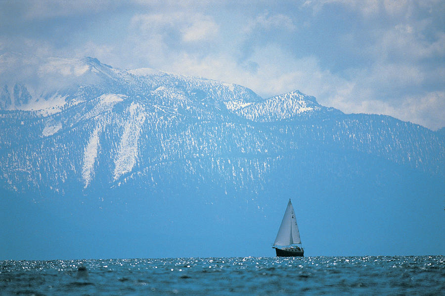 Lake Tahoe, Ca, Scenic Of Mountains And Photograph by Peter Adams