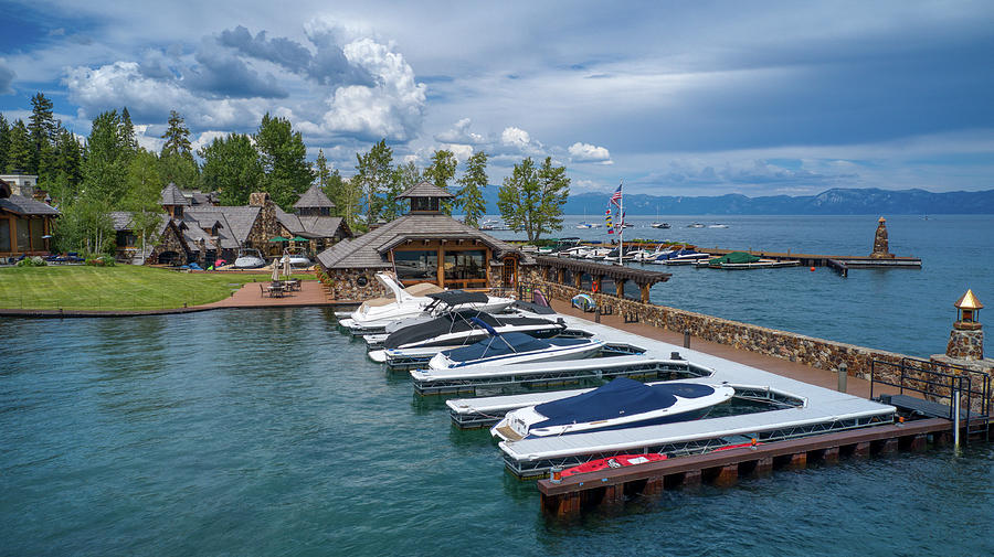 Lake Tahoe God Father House  by Ants Drone Photography