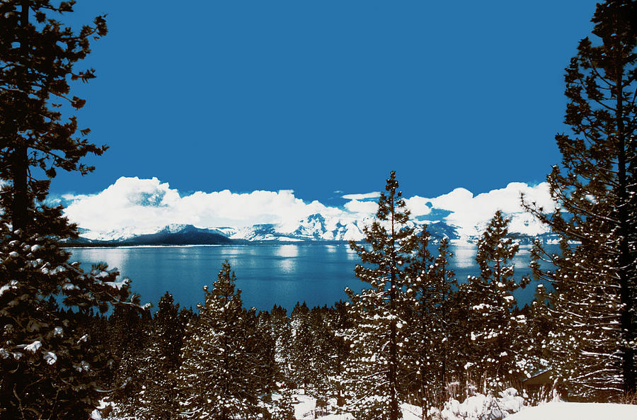 Lake Tahoe On A Winter Day In Nevada Photograph by Medioimages/photodisc