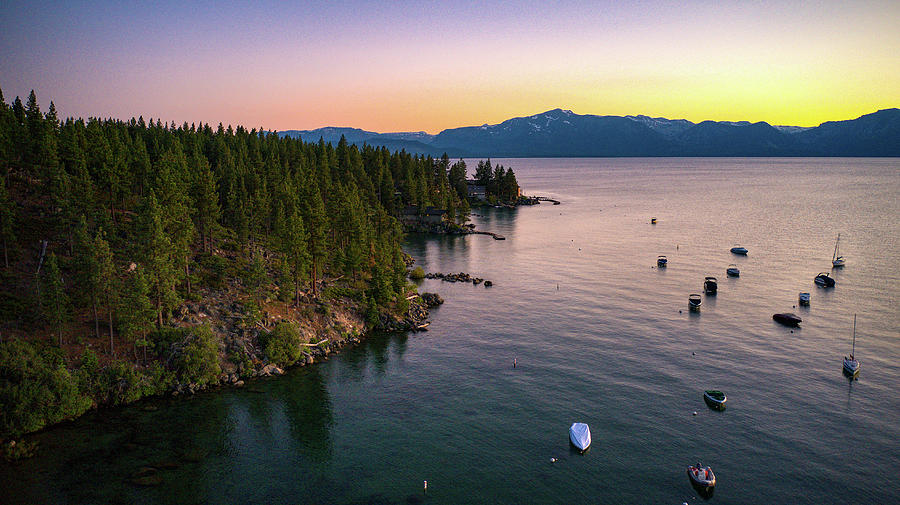 Lake Tahoe Sunset Marla Bay Sunset by Ants Drone Photography