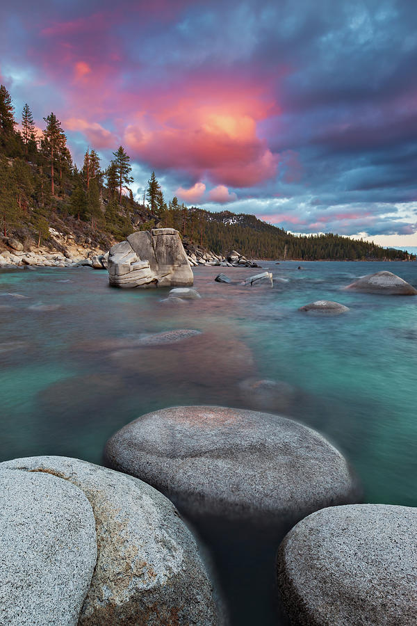 Lake Tahoe Sunset Photograph by Ropelato Photography; Earthscapes