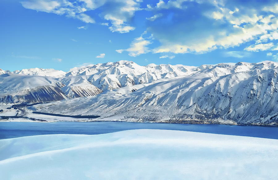 Lake Tekapo Winter Scene by Anthony Dezenzio