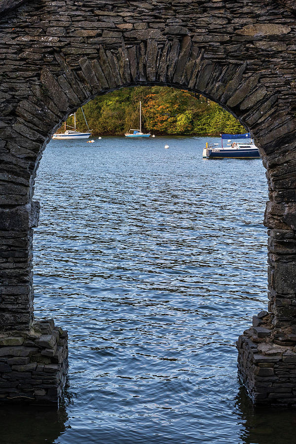 lake through a arch   by Chris Smith