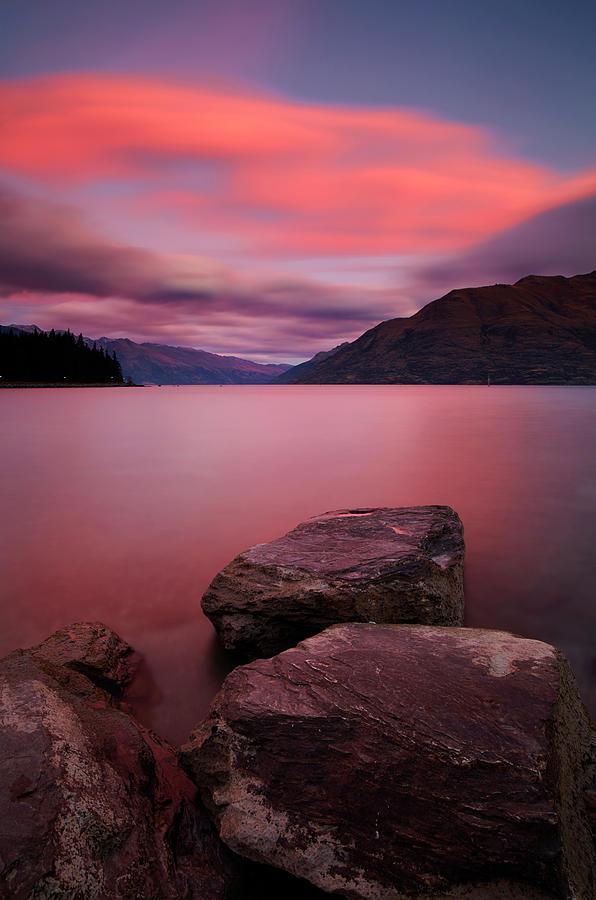 Lake Wakatipu At Dusk Photograph by Simonbradfield