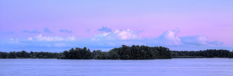 Lake Wausau July Evening Panorama by Dale Kauzlaric