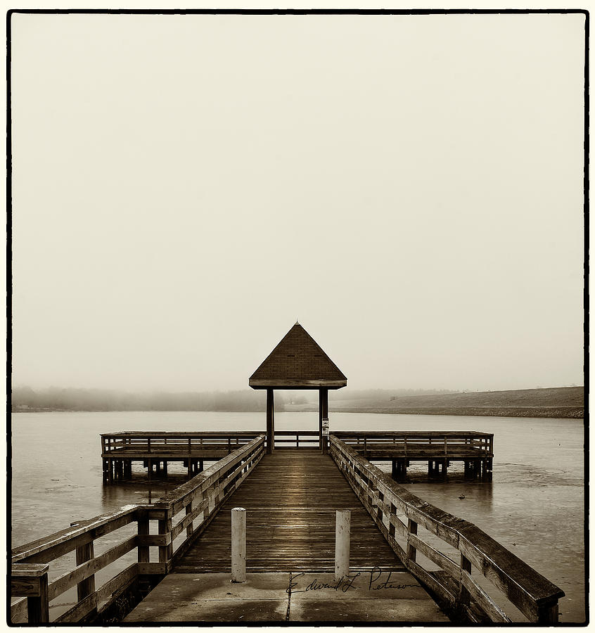 Lake Zorinsky Pier by Edward Peterson