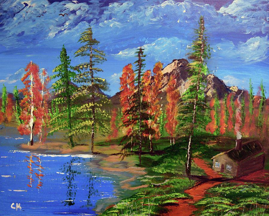 Lakeside Cabin by Chance Kafka