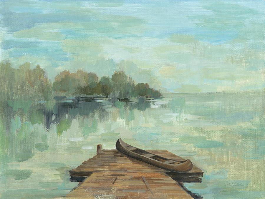 Blue Painting - Lakeside Retreat II No Wood by Silvia Vassileva