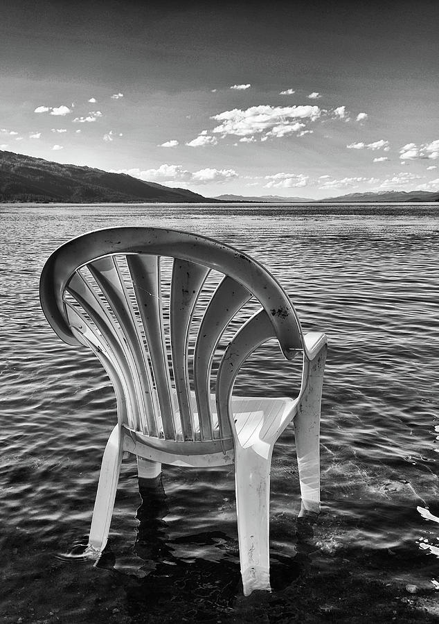 Chair Photograph - Lakeside Waiting Room by Tom Gresham