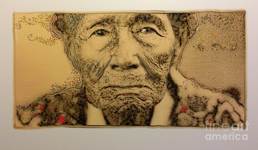 Lakota Elder  by FeatherStone Studio Julie A Miller