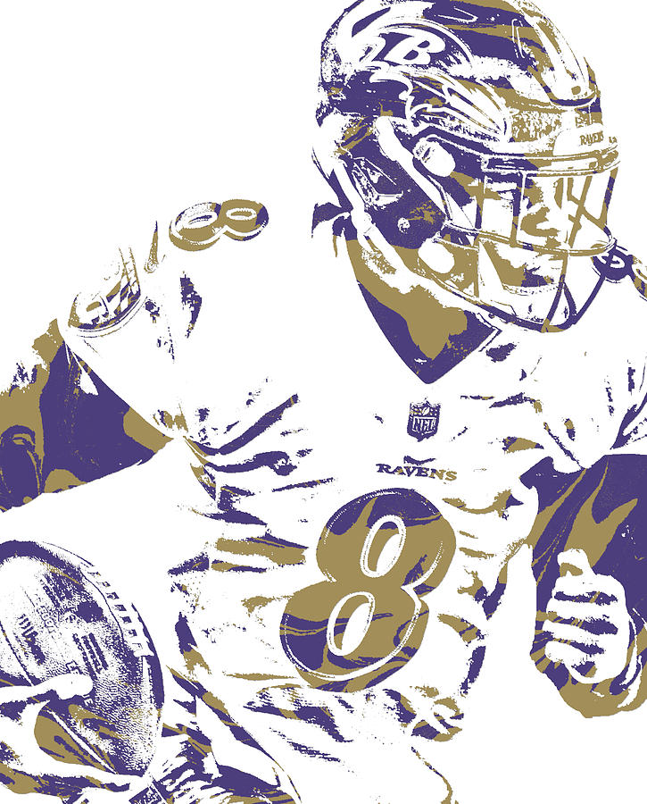 low priced 224e3 45c42 Lamar Jackson Baltimore Ravens Pixel Art 1