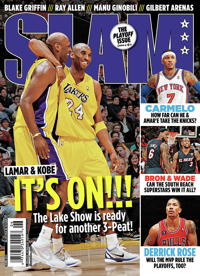 Lamar & Kobe: Its On!!! SLAM Cover Photograph by Getty Images
