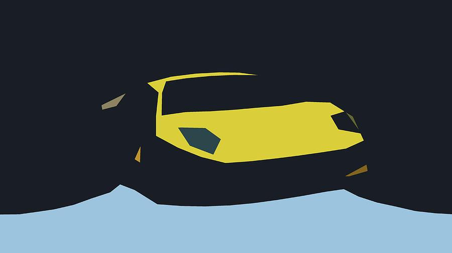 Lamborghini Murcielago Abstract Design Digital Art By Carstoon